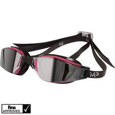 MP Michael Phelps XCEED Ladies Mirror Goggles Pink/Black