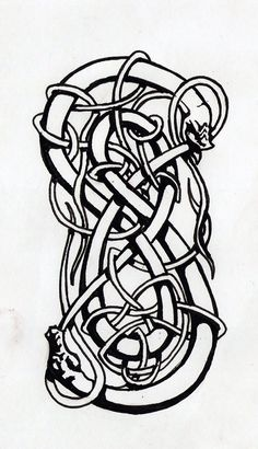 Loki symbol: Shape-changer and Trickster - the clever god as flexible as a serpent in wriggling out of trouble. Vikings believed snakes, in shedding their skins, were both wise and powerful.