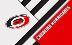 Download wallpapers Carolina Hurricanes, 4k, material design, logo, NHL, red white abstraction, lines, American hockey club, Raleigh, North Carolina, USA, National Hockey League