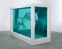 Damien Hirst  The Dream  2008  Glass, painted stainless steel, silicone, resin, foal and formaldehyde solution  2310 x 3326 x 1381 mm | 90.9 x 130.9 x 54.4 in | Edition 1 of 1 + 1 AP  Sculpture  Natural History  Image: Photographed by Prudence Cuming Associates Ltd © Damien Hirst and Science Ltd. All rights reserved, DACS 2012