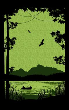 The Early Bird (Green) print by Powerslide Design Co
