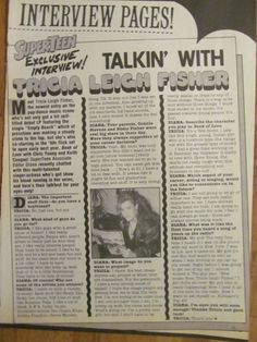 Tricia Leigh Fisher, Full Page Vintage Clipping