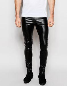 Image 1 ofASOS Meggins In Faux Leather