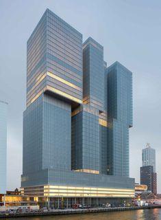 High Building, Tower Building, Building Design, Futuristic Architecture, Amazing Architecture, Architecture Design, Modern Skyscrapers, Modern Buildings, Rotterdam