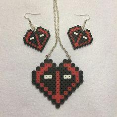 Deadpool set mini perler beads by Angela