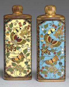 Two Cloisonné Enamel Scent Bottles Meiji period (19th century).