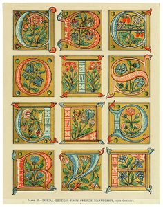 Illuminated letters (French, 15th century)
