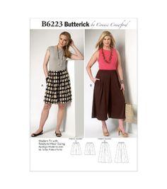 Butterick Pattern B6223-Mis-Misses'/Women'S Culottes-Xs-S-M-L-Xl