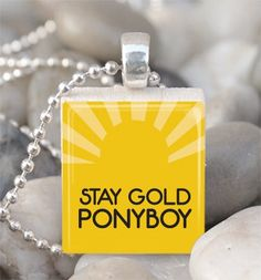Stay Gold Ponyboy The Outsiders Necklace Outsiders Jewelry Outsiders Pendant Scrabble Tile Pendant Photo Art Pendant JP400 on Etsy, $6.00