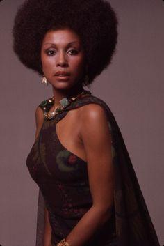 Portrait of African American actress Diahann Carroll New York 1973
