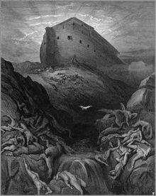 Le Lâcher de la colombe (Gustave Doré).