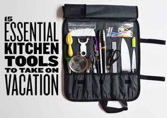15 Essential Kitchen Tools To Take On Vacation -   This might be a good idea for packing the basics for the move