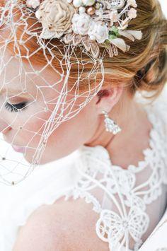 Bridal makeup with birdcage vail. Wedding. Southern Bride. #BSBMakeup. #BSBBride.