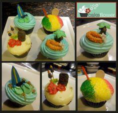 Hawaiian Luau Cupcake Topper Set via Etsy. Hawaiian Cupcakes, Luau Cupcakes, Hawaiian Luau, Cupcake Toppers, Cupcake Ideas, Luau Party, How Sweet Eats, Beach Pool, Beach Bum
