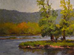 St. Croix River by MaryAnn Cleary Oil ~ 18 x 24