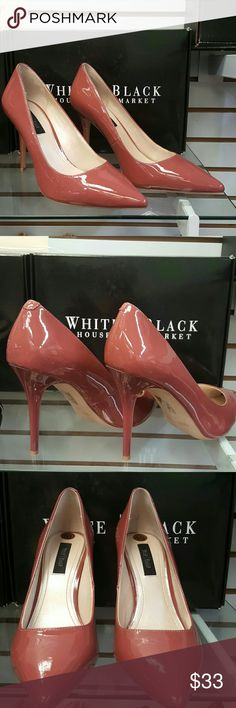 """WHBM Women's Rose Patent leather Pumps Patent leather Pumps with 3.5"""" heel.  No shipping between 7-14 and 7-21. White House Black Market Shoes Heels"""
