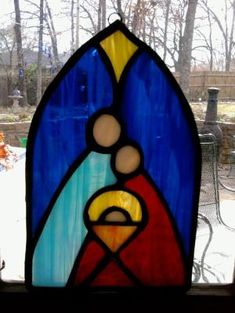 Stained glass nativity ornament by zelma