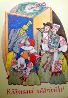 Old Christmas, Christmas Cards, Folk, Costumes, Painting, Heaven, Art, Illustrations, Christmas E Cards