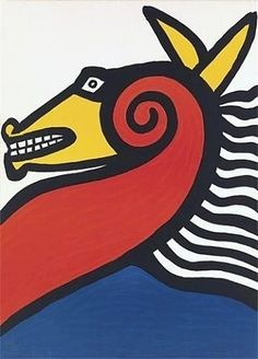 View Horse By Alexander Calder; Lithograph in colors; Access more artwork lots and estimated & realized auction prices on MutualArt. Alexander Calder, Pablo Picasso, Jean Arp, Exhibition Poster, Expositions, Art Plastique, Vintage Posters, Modern Posters, Art Lessons