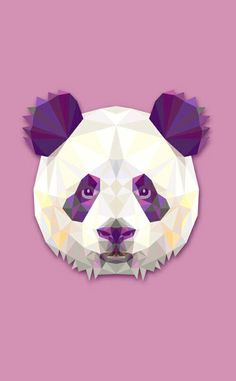 Panda illustration, Triangle Collage, Panda, Personality PNG and Vector Panda Illustration, Image Panda, Panda Wallpapers, Panda Art, Panda Panda, Polygon Art, Panda Love, Bear Design, Animal Wallpaper