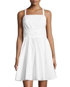 d607de00d9f Sleeveless Crisscross-Tie Dress by Halston Heritage at Neiman Marcus.