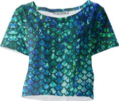 Mermaid Scales Sleeved Crop Top - Available Here: http://printallover.me/products/0000000p-mermaid-scales-11