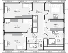 Grundriss DG Ohlig A big as an alternative of two small lavatory, door in dressing room st . Arch Interior, Architecture Plan, House Floor Plans, My Dream Home, Future House, Building A House, Sweet Home, New Homes, Layout