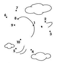 Math Worksheets Numbers 1 To 10 Preschool Learning Activities, Preschool Worksheets, Kindergarten Math, Preschool Activities, Teaching Kids, Kids Learning, Dots Game, Easy Drawings For Kids, Connect The Dots