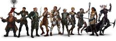 Dragon Age II characters (my Bethany doesn't look like that...)