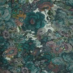 Kingfisher Coloured Floral Jersey
