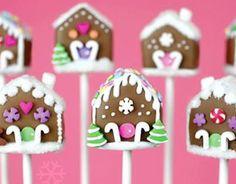 ... of Christmas Cake Pops – Day 17 – Gingerbread House Cake Pops