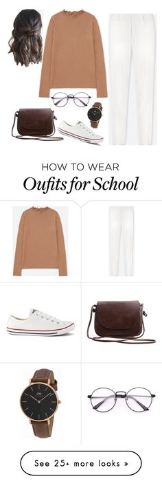 """""""Untitled #168"""" by nirmaladv on Polyvore featuring Uniqlo, Converse and Daniel Wellington"""