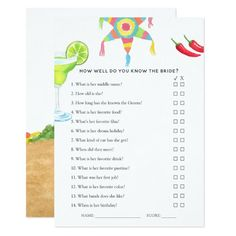 Couples Wedding Shower Games, Bridal Shower Games, Bridal Shower Invitations, Birthday Invitations, Lingerie Shower Games, Mexican Bridal Showers, Game Card Design, Couple Shower, Wedding Things