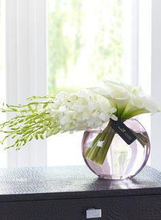 Luxury White Dendrobium and Calla Lily Vase - Our Complete Range