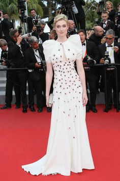 Elizabeth Debicki in Giambattista Valli. See all the looks from the Cannes Film Festival.