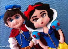 <3 #feltro #felt #amor #love #brancadeneve #principe #snowwhite