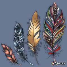 Trendy drawing ideas zentangle feathers 31 ideas is part of Little Mermaid tattoos Foot - Little Mermaid tattoos Foot Feather Drawing, Feather Painting, Feather Art, Feather Tattoos, Native Art, Native American Art, Tattoo Indien, Disney Drawings, Art Drawings