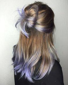 45 Incredible lavender hair that wipes your mind - nyes - Lilac Hair Lilac Hair, Hair Color Purple, Hair Color And Cut, Cool Hair Color, Lavender Hair Tips, Rainbow Hair Colors, Purple Hair Streaks, Peekaboo Hair Colors, Pastel Purple Hair