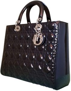 ae058f51e0f0 Buy your lady dior patent leather handbag DIOR on Vestiaire Collective