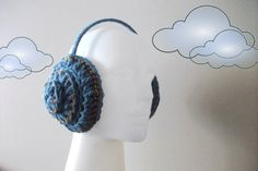 Earmuffs by giZZdesign Effect jeans Blue with by giZZdesign, $24.00