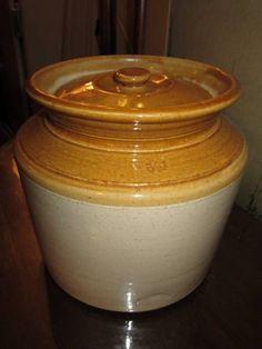 Cookie Jar -- Vintage Bendigo Australian Pottery Biscuit Cookie Barrel