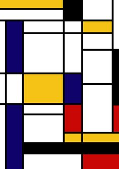 Primary Colors Geometric Pattern Fabric - Mondrian Fabric - Bauhaus Style Lines Home Decor Cotton Art Print by AP Posters - X-Sm Mid Century Modern Art, Mid Century Art, Art Deco Artwork, Mondrian Art, Bauhaus Style, Poster Prints, Art Prints, Illustrations And Posters, Geometric Art