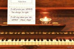 Scripture from the Bible portrayed with inspired pictures Psalms, Piano, Singing, Music Instruments, Bible, Inspired, Pictures, Inspiration, Parrots