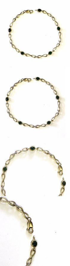 Diamond Vintage 14K Solid Yellow Gold Diamond Bracelet