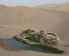 """""""An incredible lake in the middle of the Gobi desert: http://t.co/D40eWCXgE1 #travel #gobi #incredible"""""""