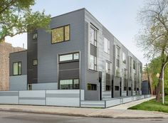 These Chicago row houses are definitely different than what we typically think of when we think of row houses