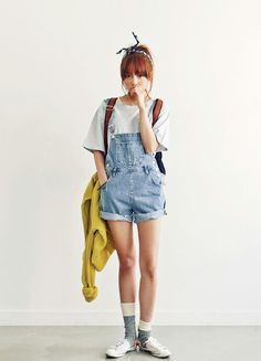 korean fashion - ulzzang - ulzzang fashion - cute girl - cute outfit - seoul style - asian fashion - korean style - asian style - kstyle k-style - k-fashion - k-fashion Cute Fashion, Look Fashion, Teen Fashion, Fashion Outfits, Fashion Ideas, Cute Korean Fashion, Short Girl Fashion, Korean Fashion Summer Casual, Fashion Shorts