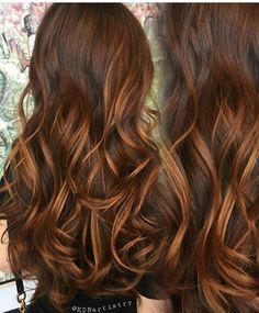Brunette hair color with highlights auburn colour 61 best ideas Brunette Hair Color With Highlights, Brown Hair Balayage, Hair Color Auburn, Auburn Hair, Hair Highlights, Bayalage, Cabelo Tiger Eye, Tiger Eye Hair Color, Hot Hair Colors