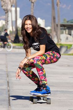 Zendaya coleman skateboarding wow i like her even better now