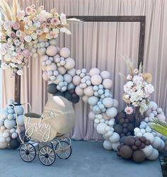 Qualatex Balloons, Blue Balloons, Balloon Decorations, Balloon Ideas, Teddy Bear Baby Shower, Beautiful Baby Shower, Ideas Para Fiestas, Baby Shower Balloons, Event Decor